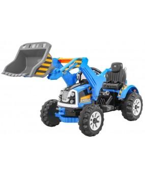 Elektrický traktor / bager s lyžicou modrý